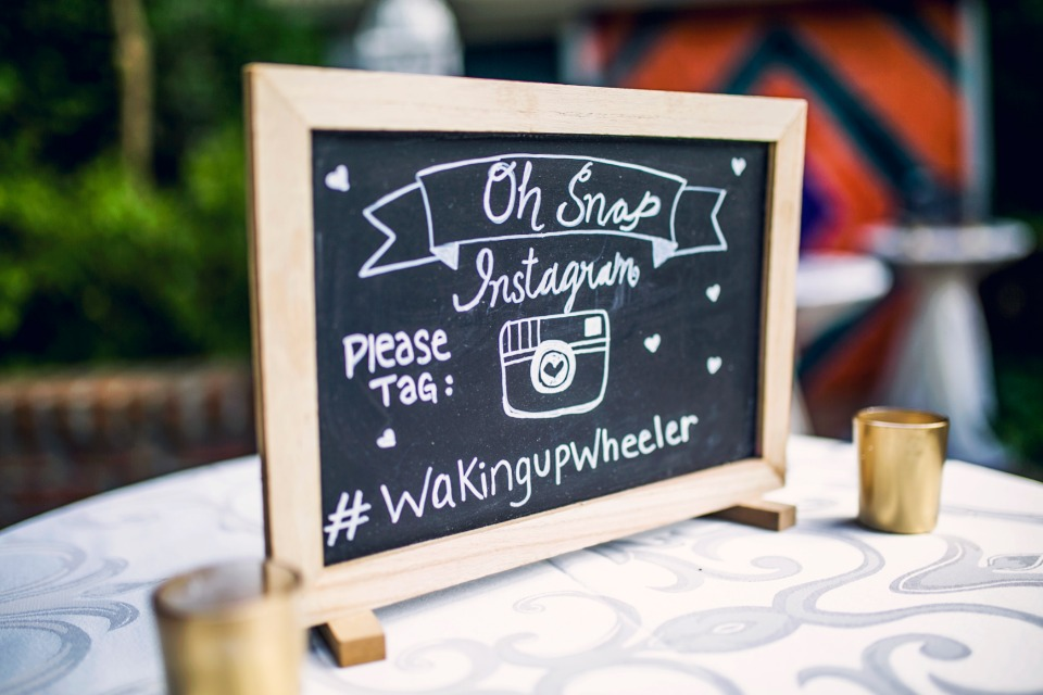 oh snap instagram wedding sign