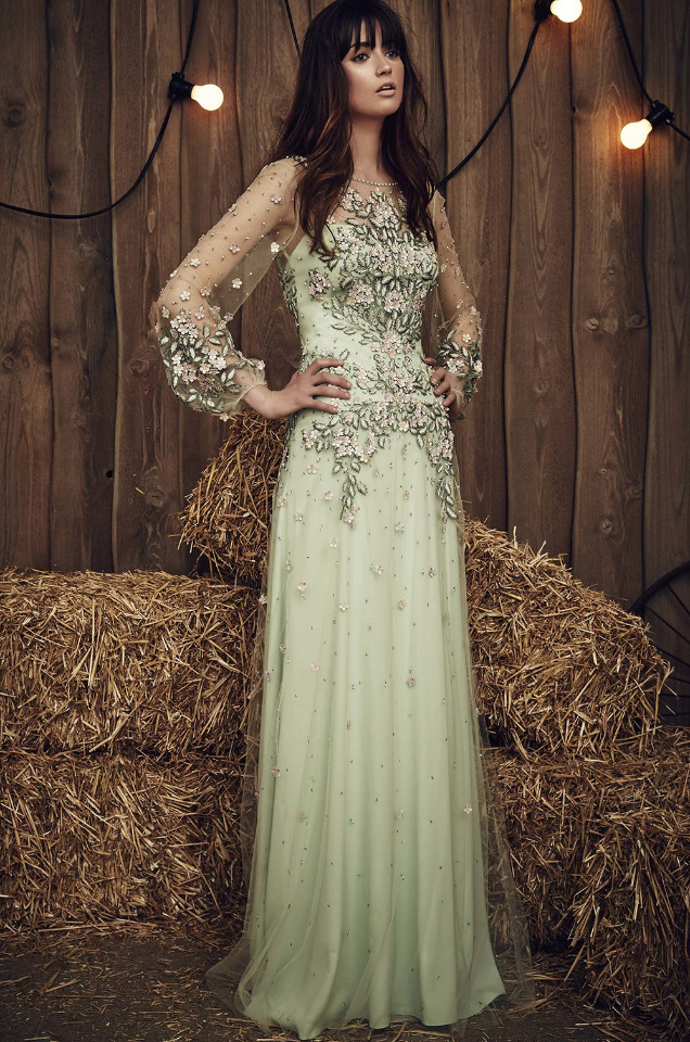 Jenny Packham Green Dress