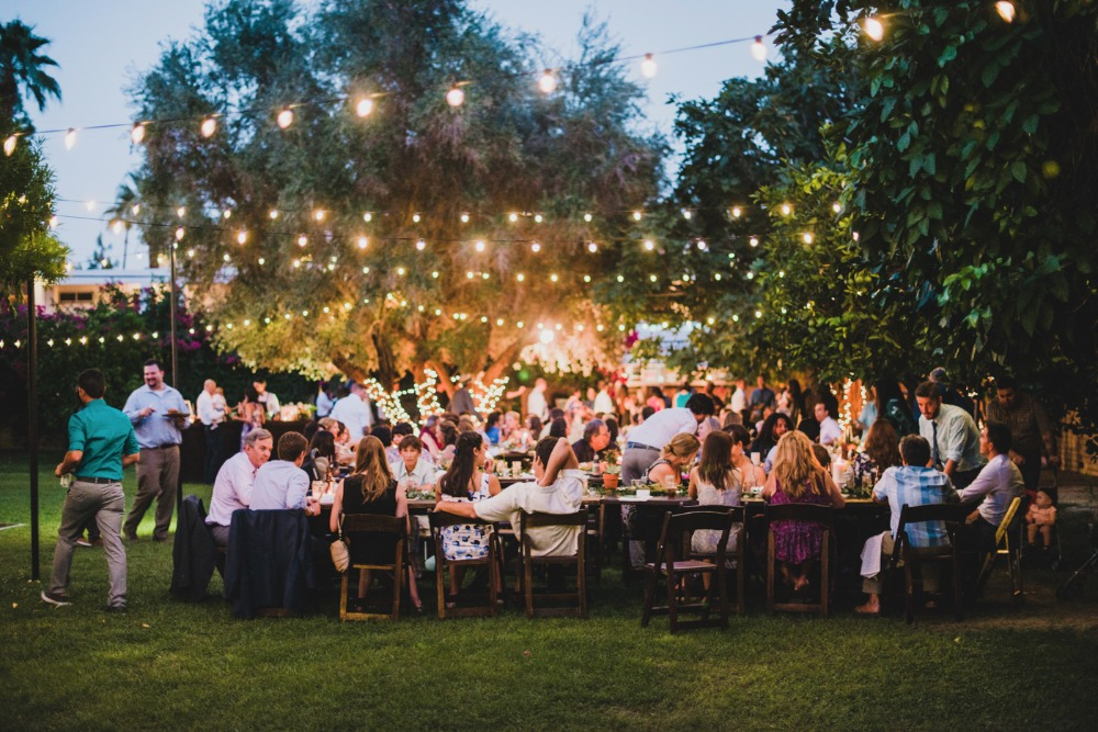 Outdoor reception lighting idea