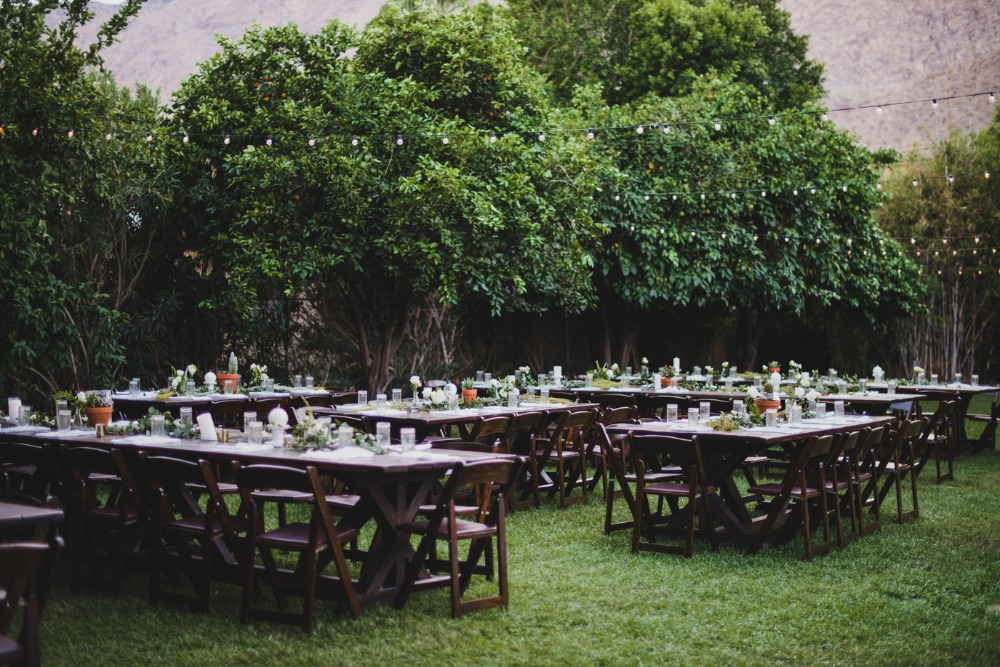Stylish outdoor reception