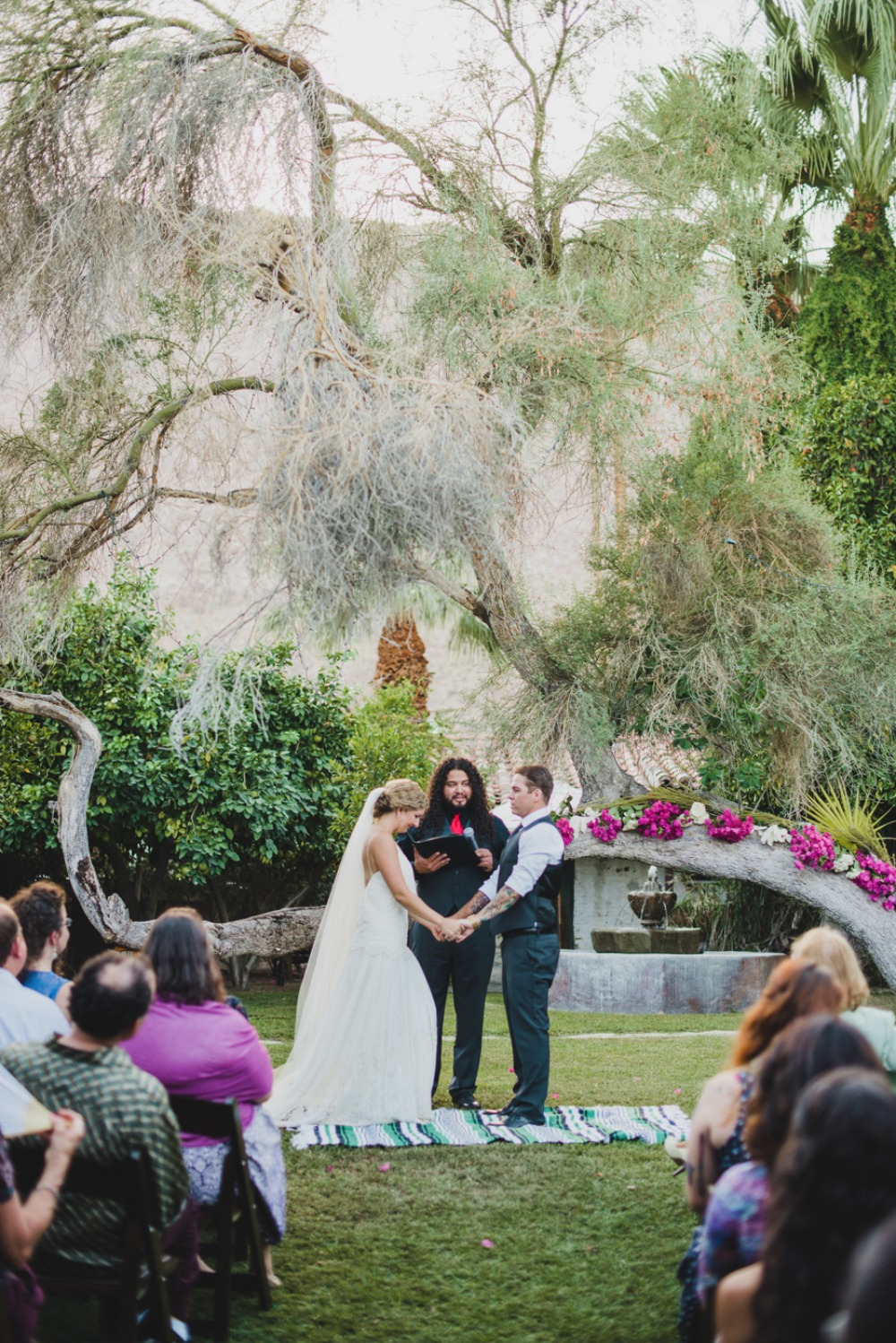 Intimate outdoor Palm Desert wedding