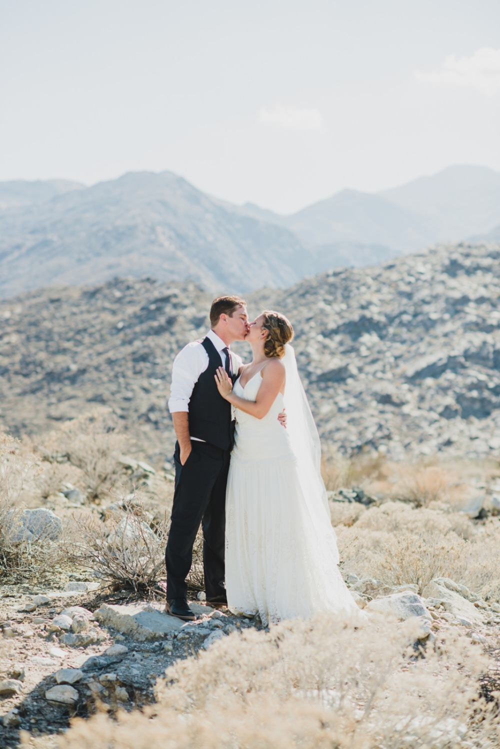 Desert wedding photo