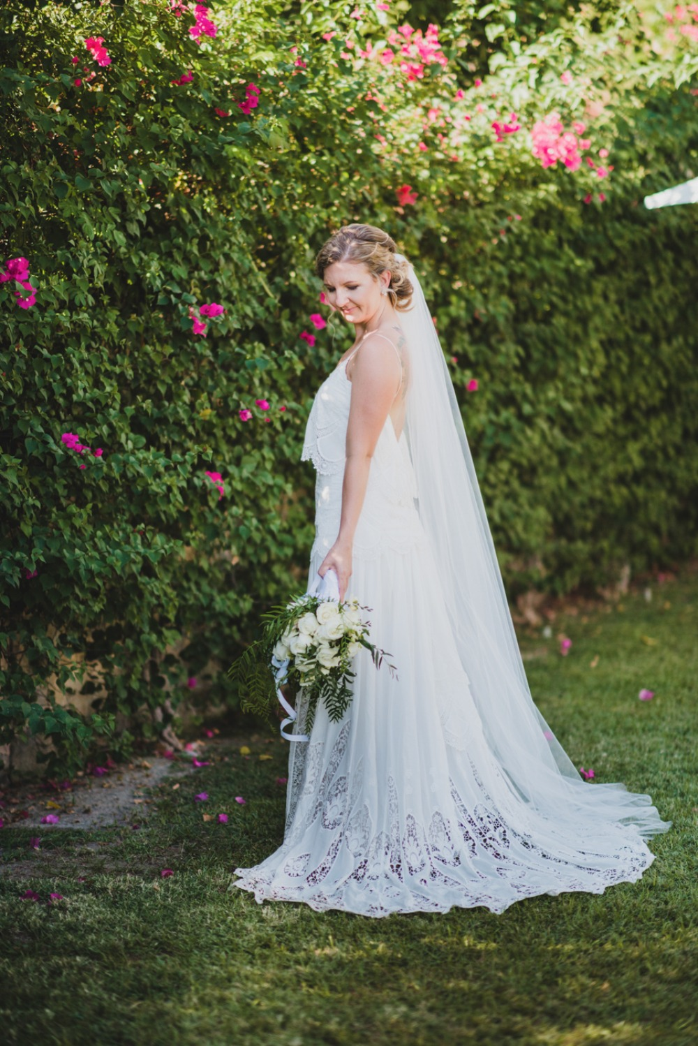 Stunning lace bridal gown