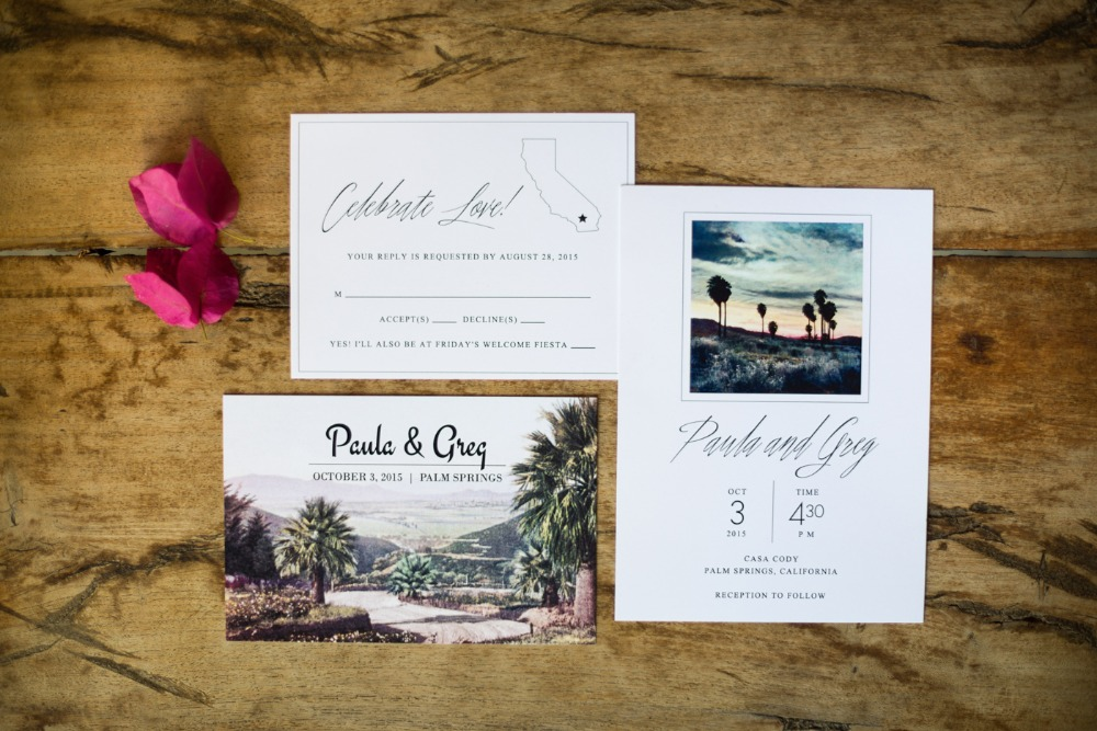 Stylish photo wedding invites