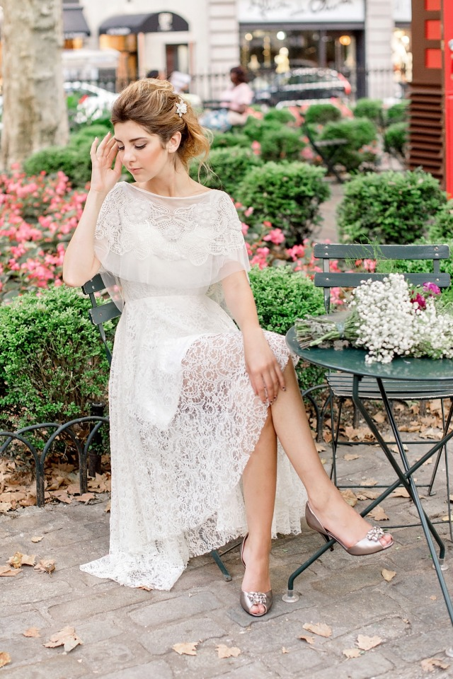 lace overlay wedding dress from Cristalle Brides