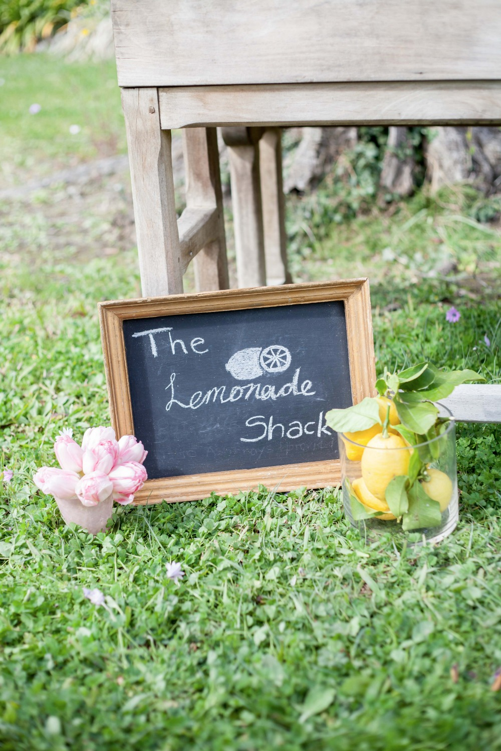 Chalkboard lemonade sign
