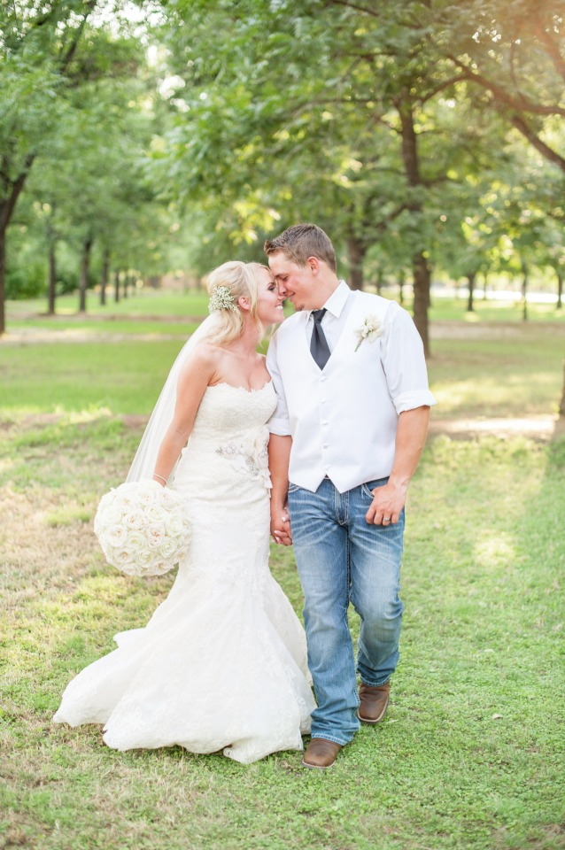 a little bit country bride and groom