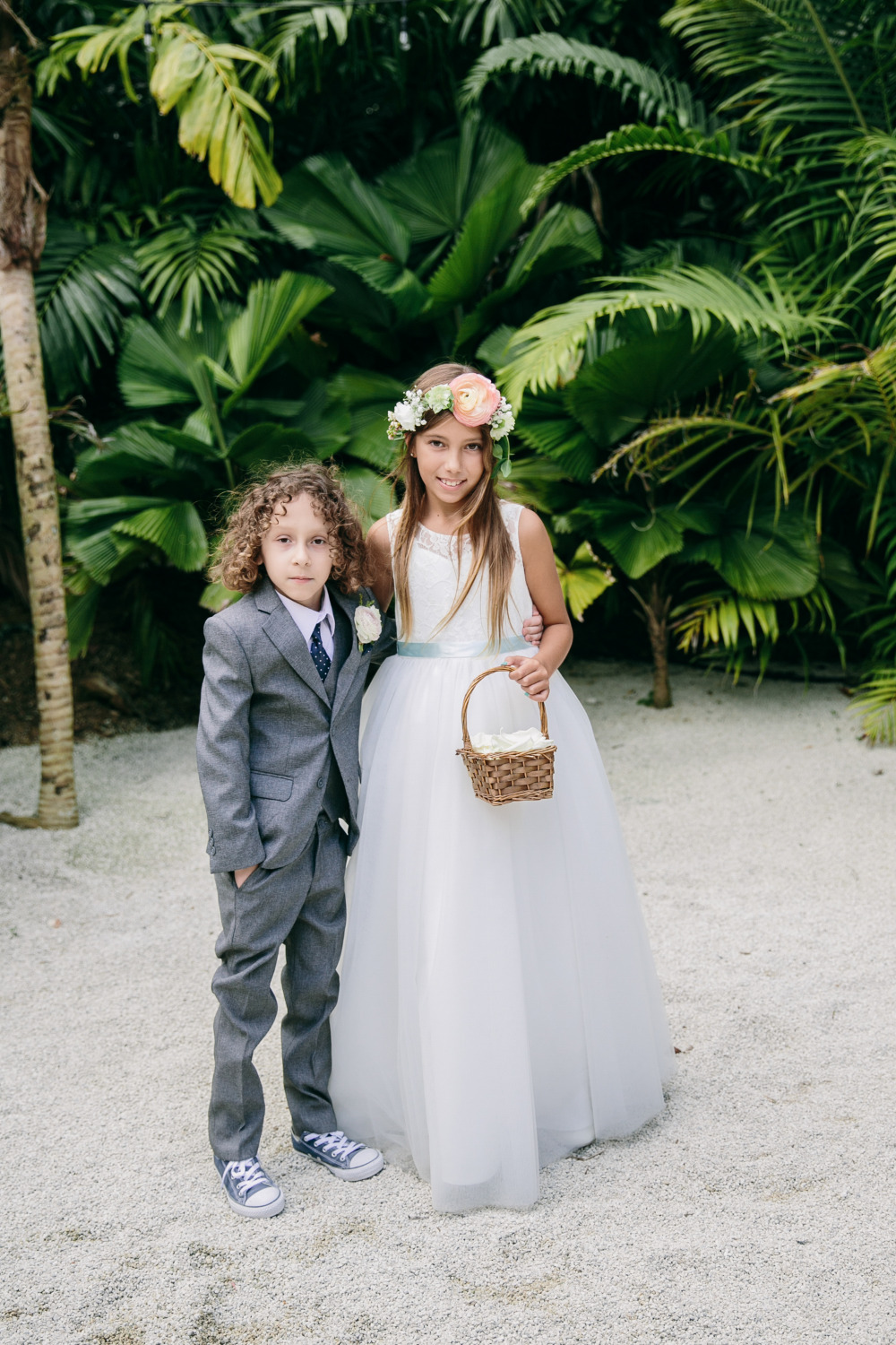 little ring bearer and flower girl