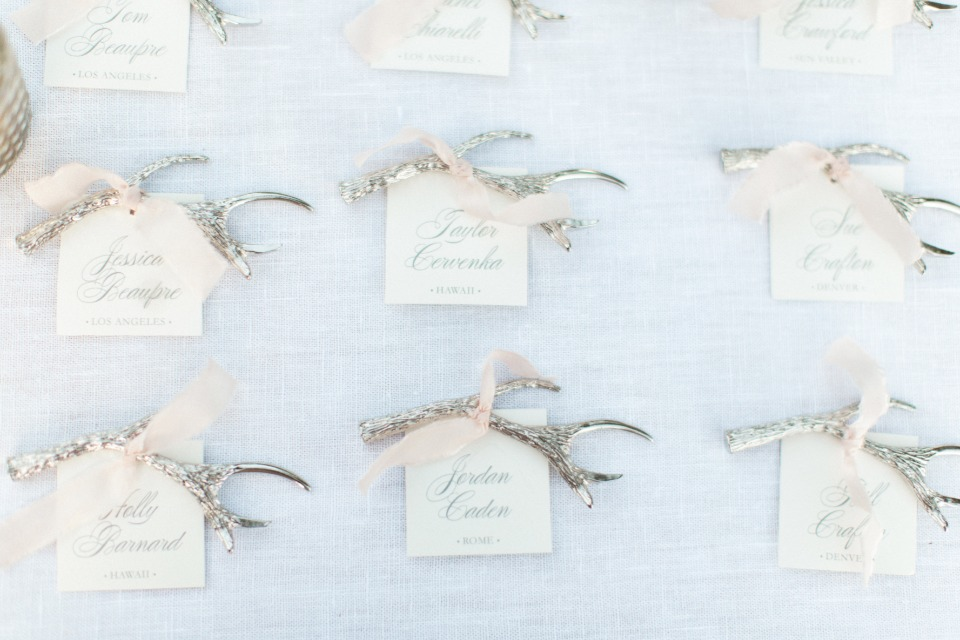 antler and escort cards