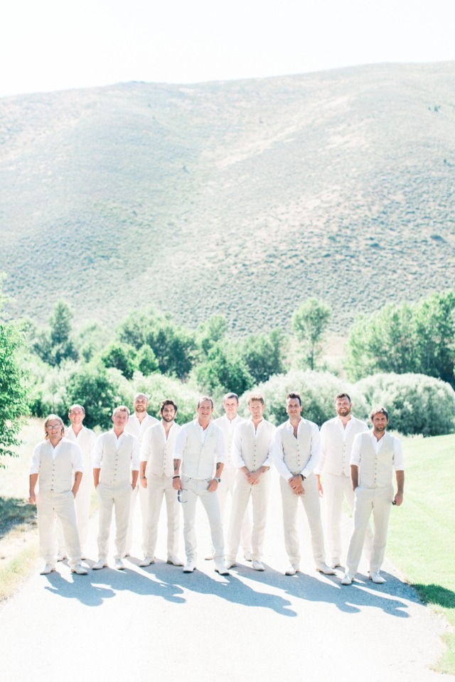 white and ivory groomsmen style