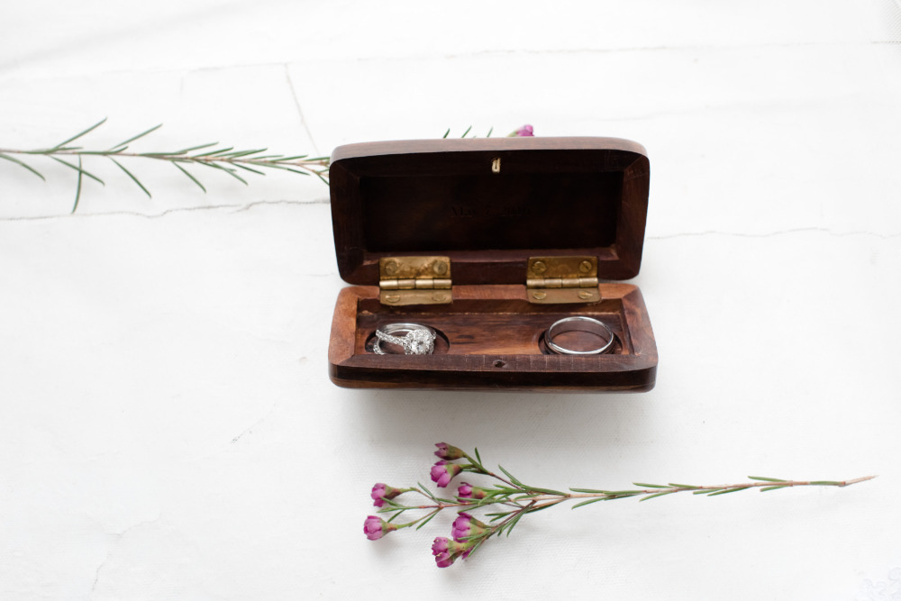 custom wooden ring wedding box