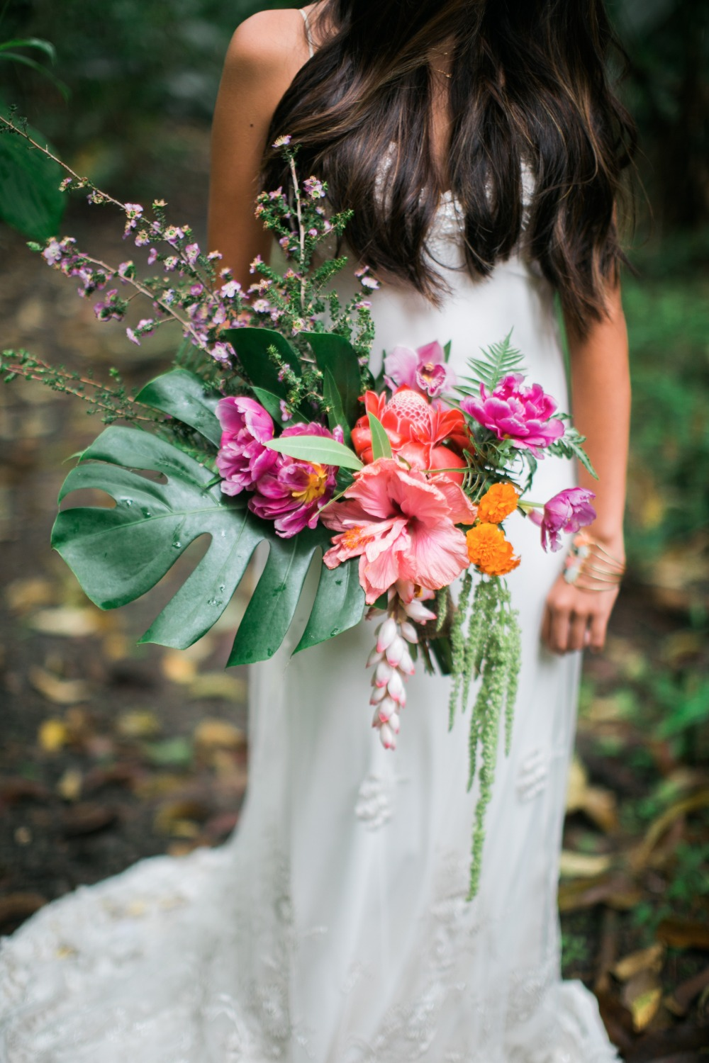 Stunning Hawaiian wedding bouquet