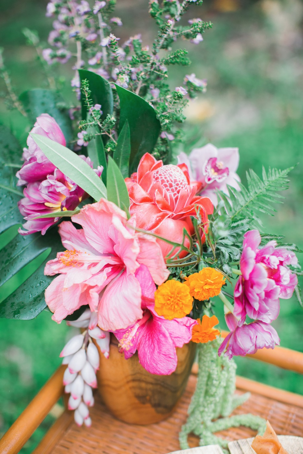Bright and bold Hawaiian bouquet