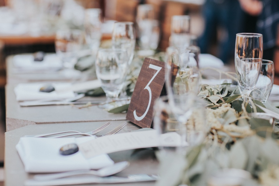 modern and minimal table number
