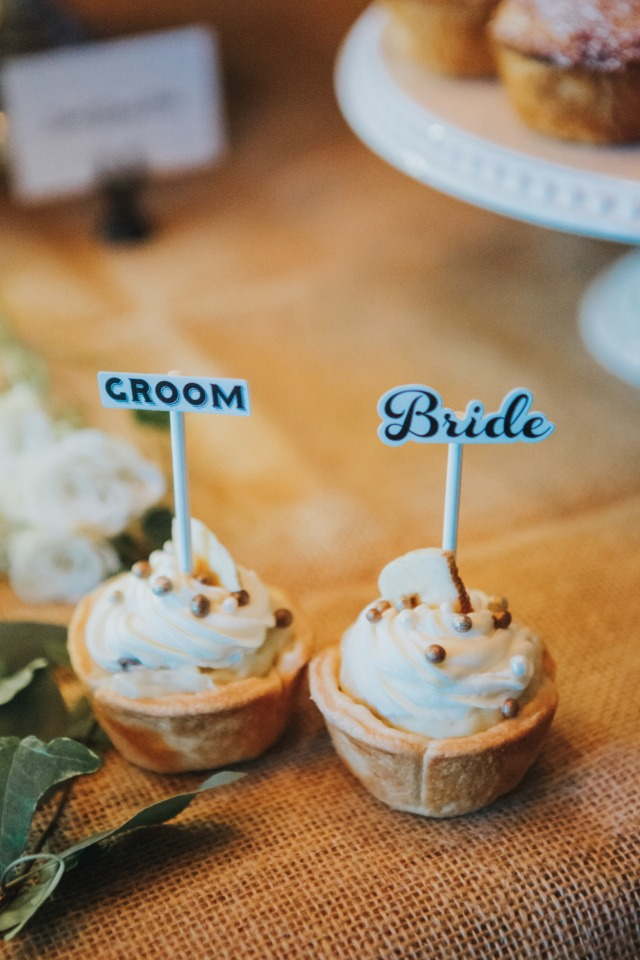 mini pies for bride and groom
