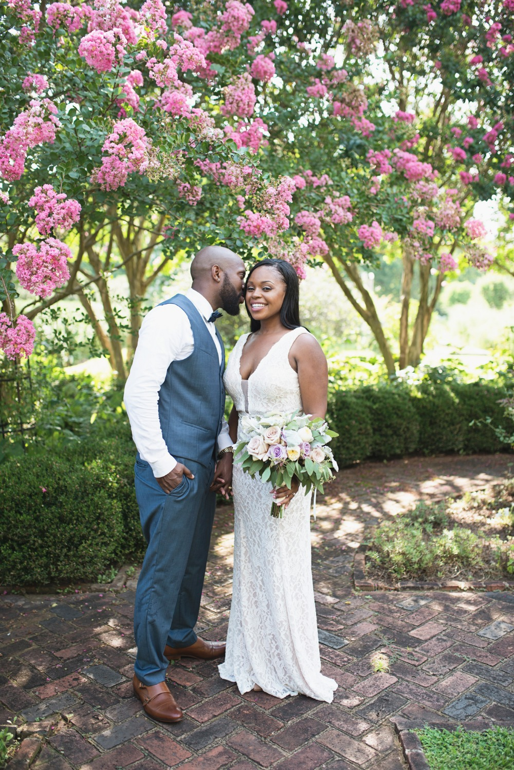 Beautiful garden elopement