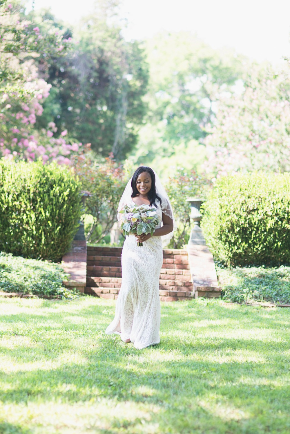 Pretty bridal look for an elopement