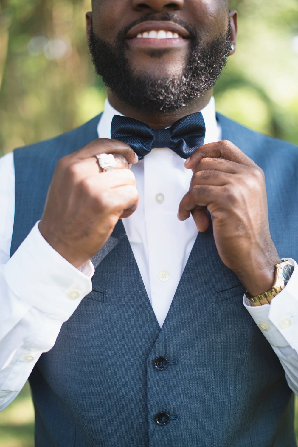 Dapper groom and bow tie