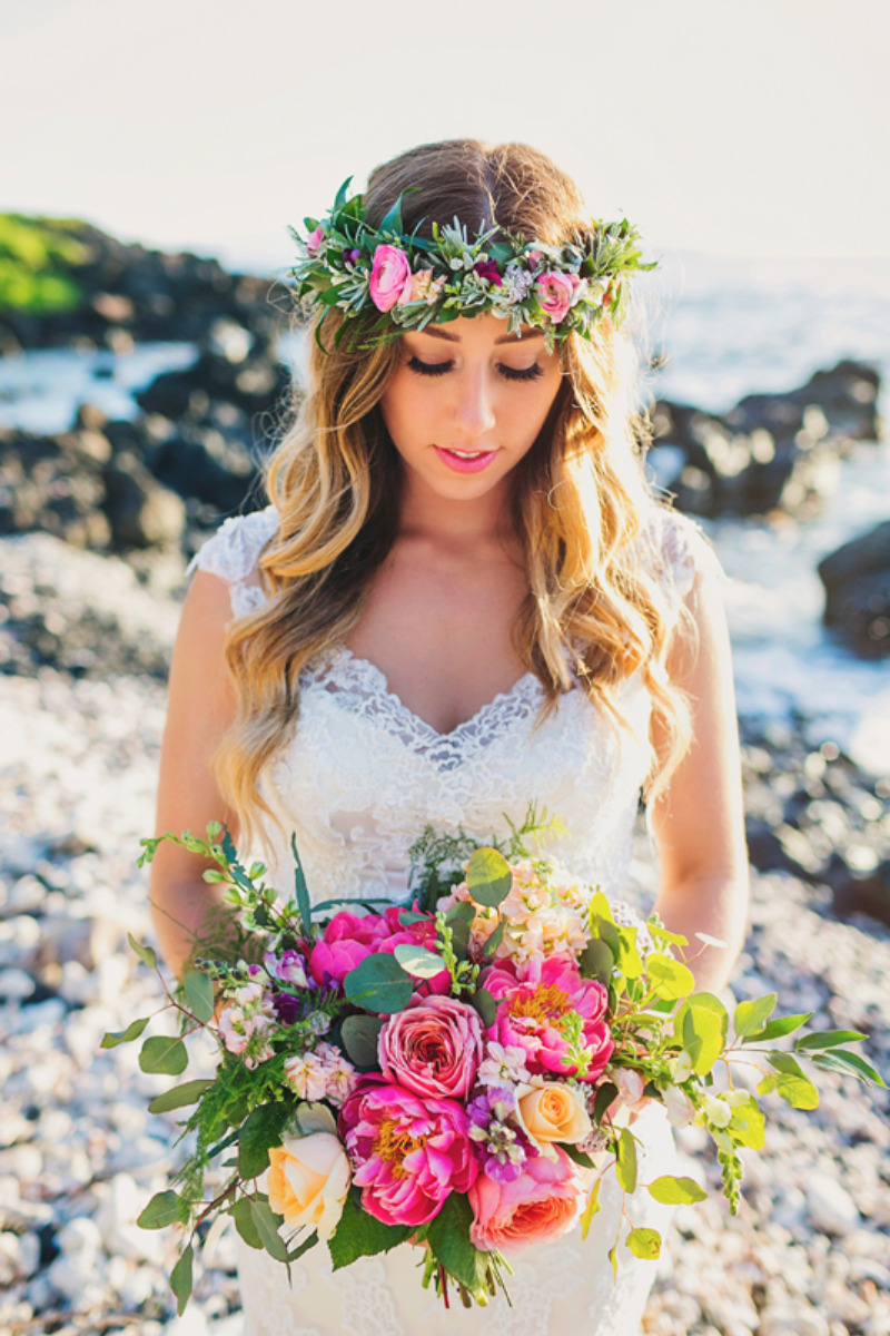 Caitlin Cathey Photography Inspiration Image From Bridal Portrait With Haku Lei