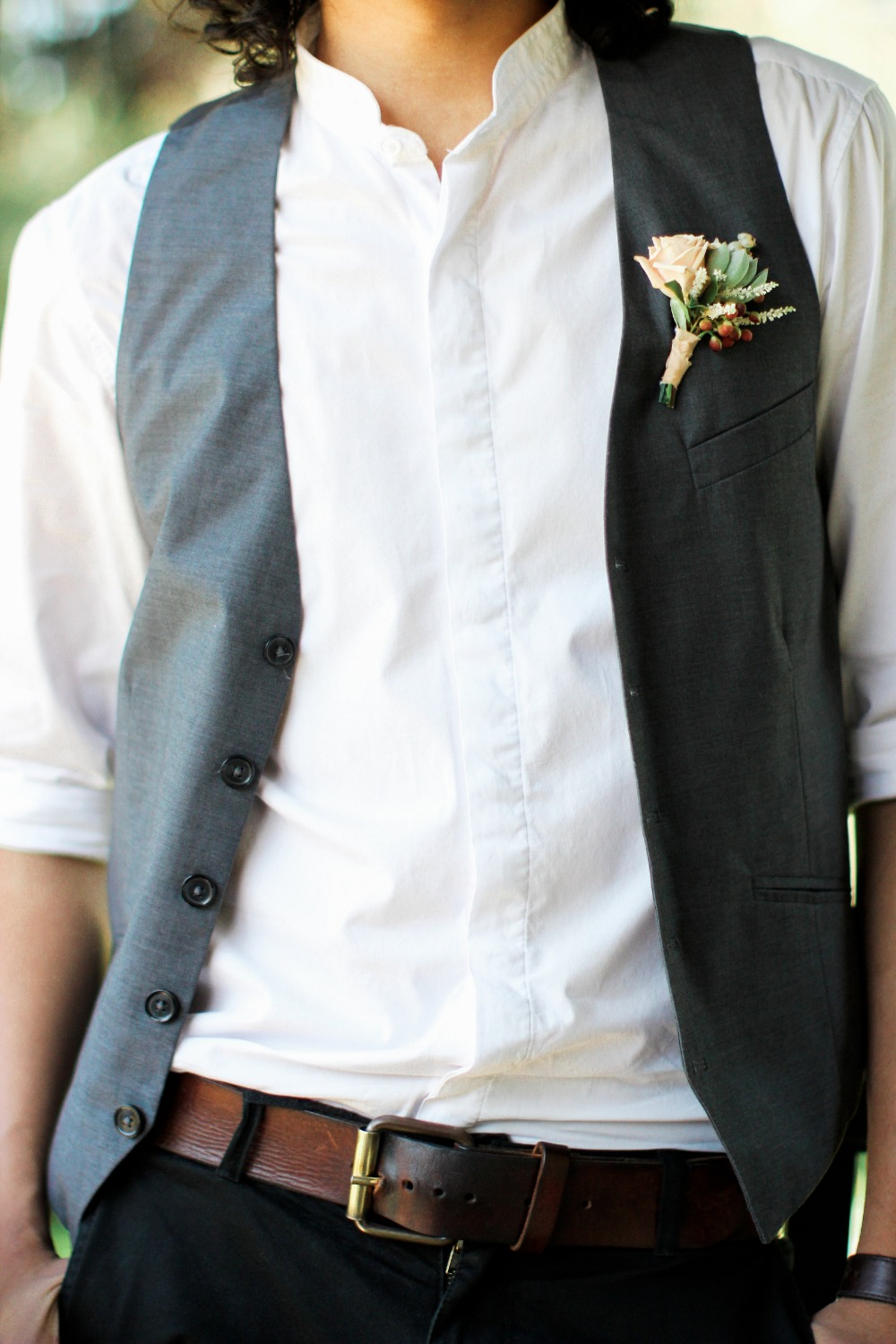 Casual groom look