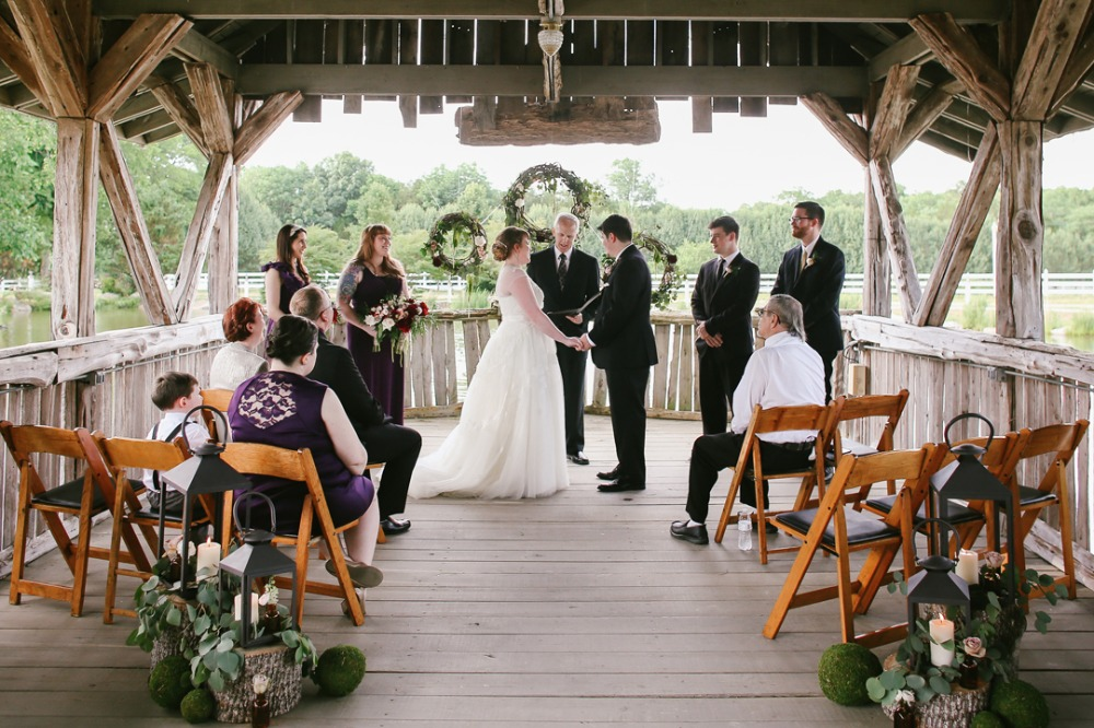 Rustic chic ceremony space