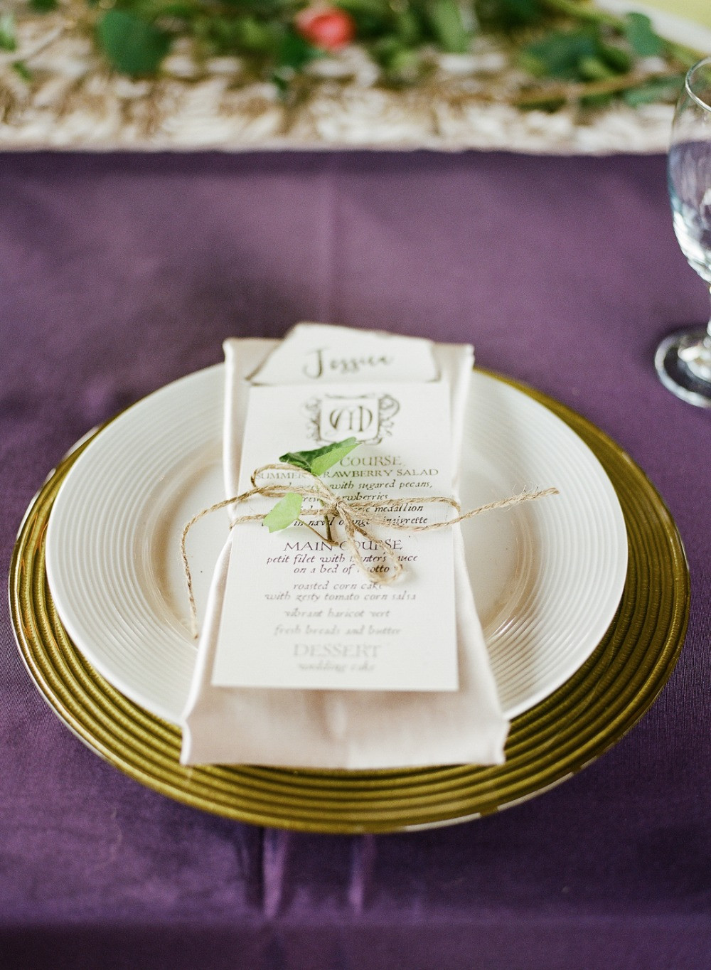 Harry Potter themed place setting