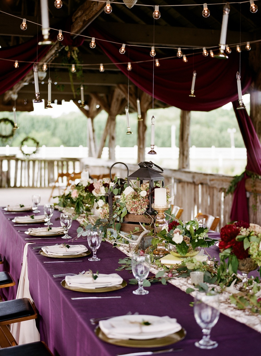 Sophisticated Harry Potter themed reception