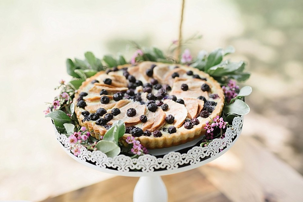 Wedding blueberry pie