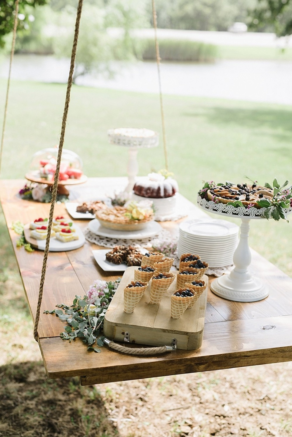 Hanging dessert table