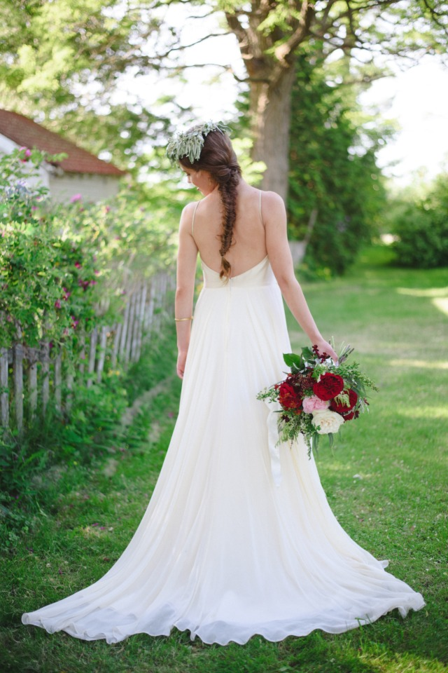 simple and sweet wedding dress from Mrs Bridal Boutique