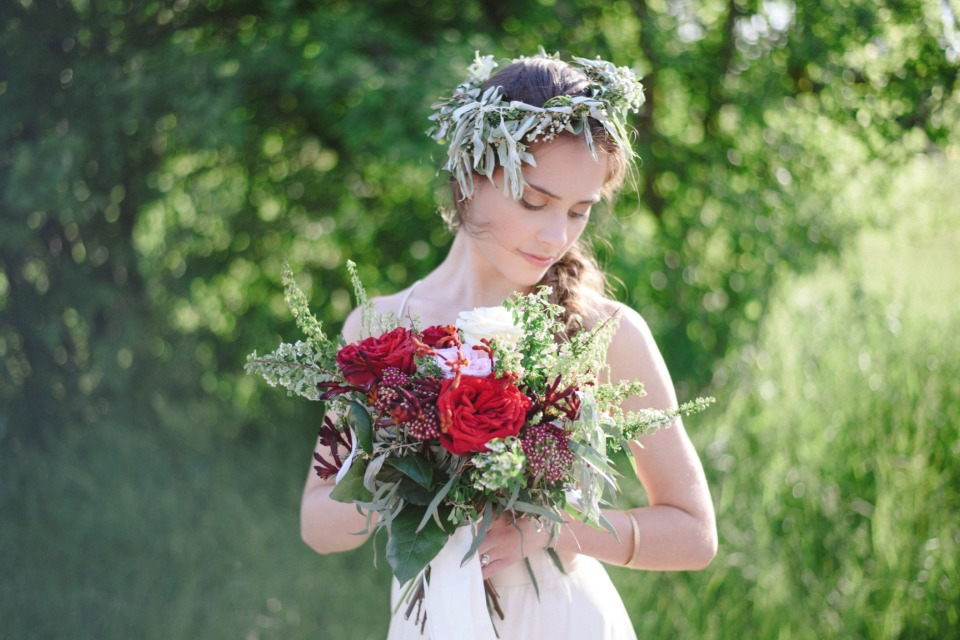 late summer bridal style