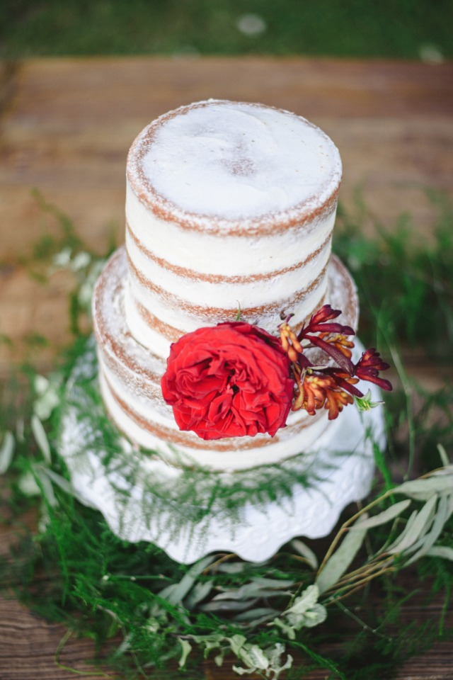 nearly naked wedding cake