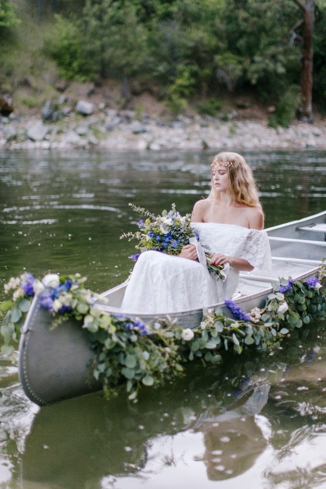 bridal canoe instead of a carriage