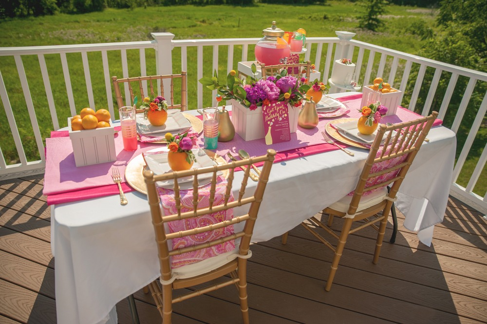 Chic pink and gold bridal shower
