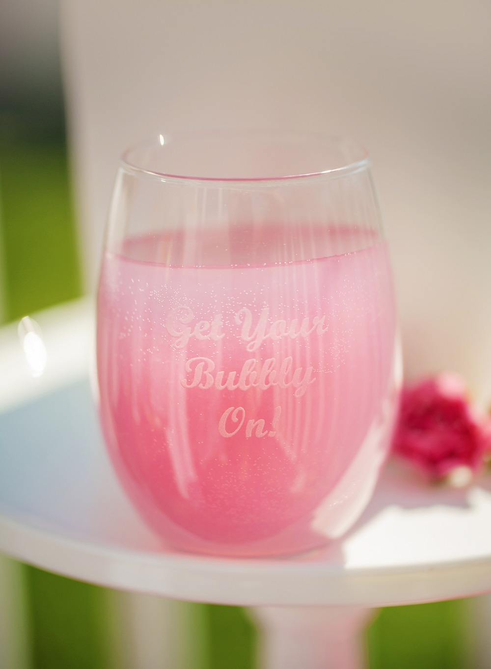 Get your bubbly on bridal shower glass