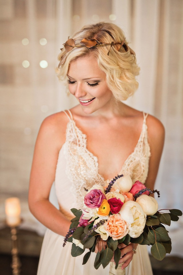 rustic chic bridal style
