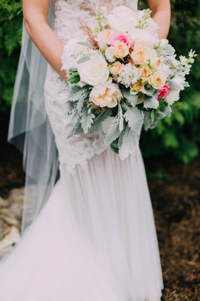 romantic and vintage style bouquet