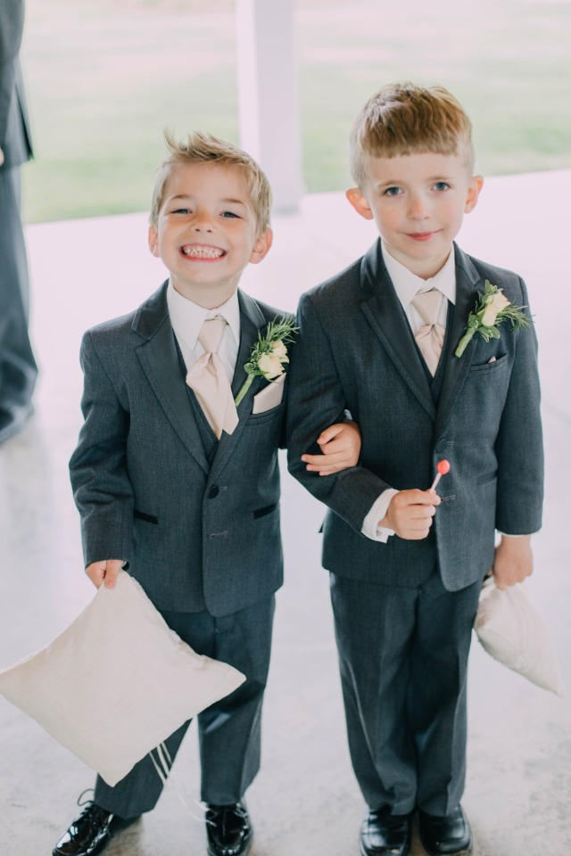 sweet and handsome looking ring bearers