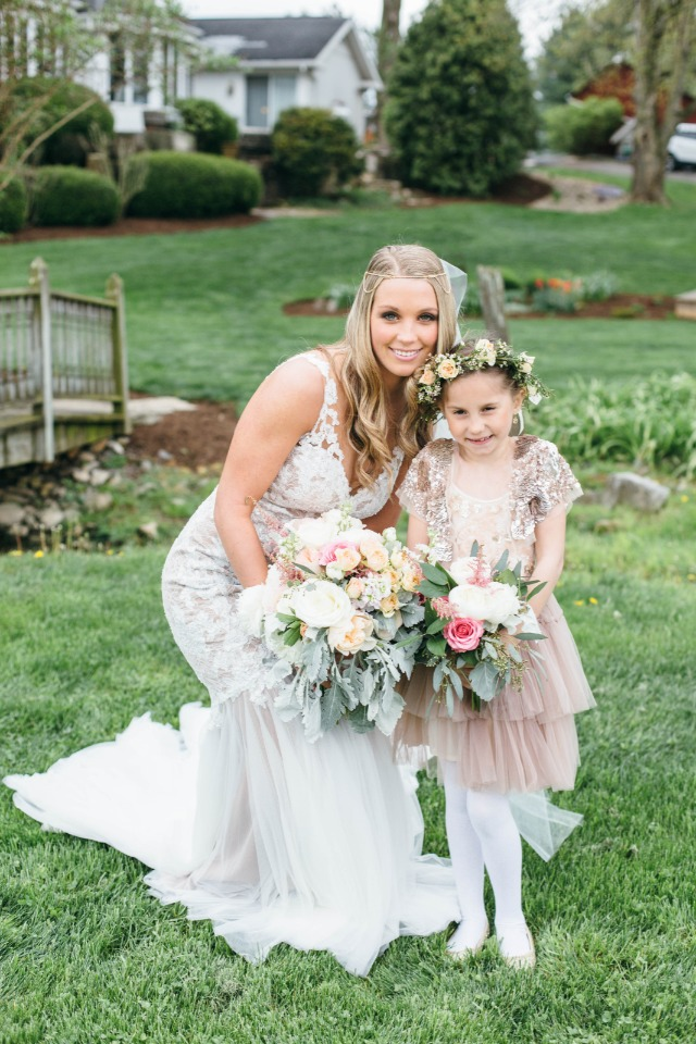 sweet brie and her flower girl