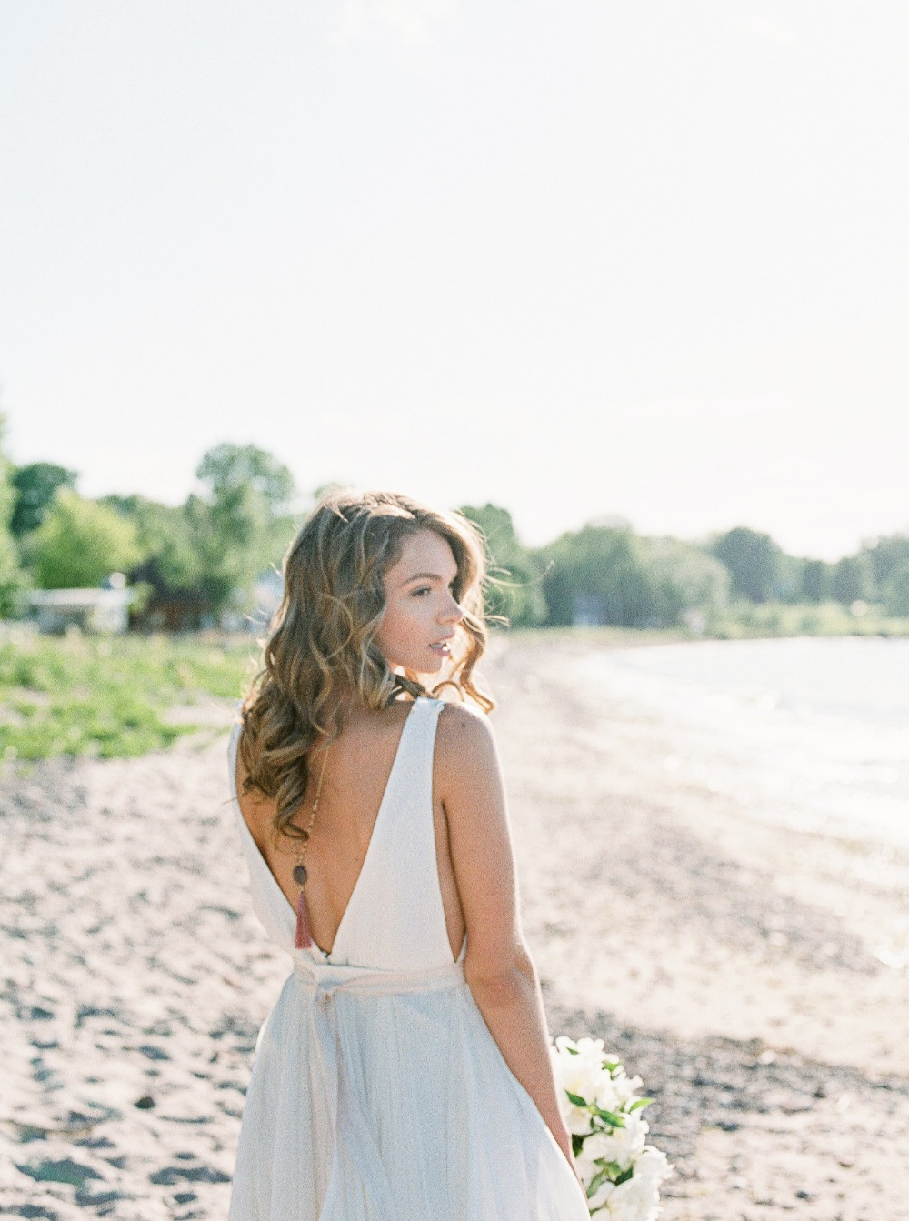 Bridal back necklace accessories
