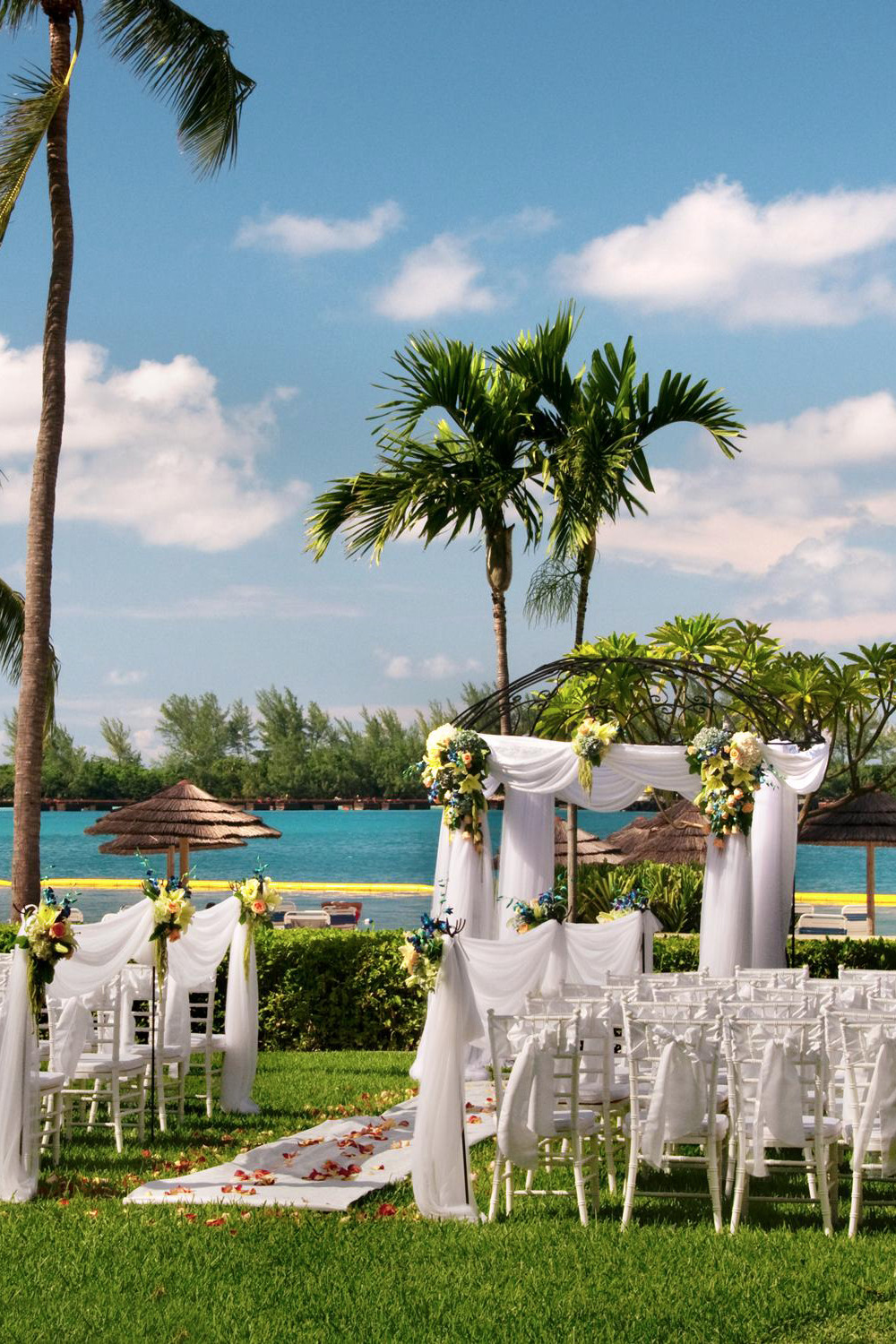 wedding venue at the Hilton in the Bahamas