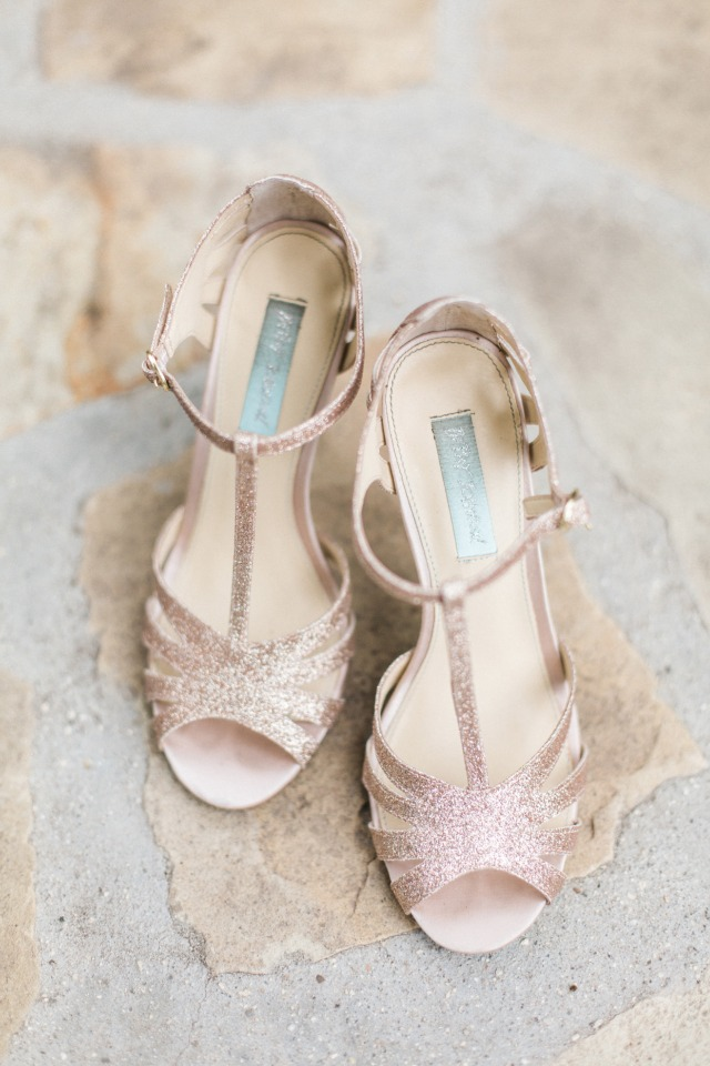 champagne glitter wedding shoes