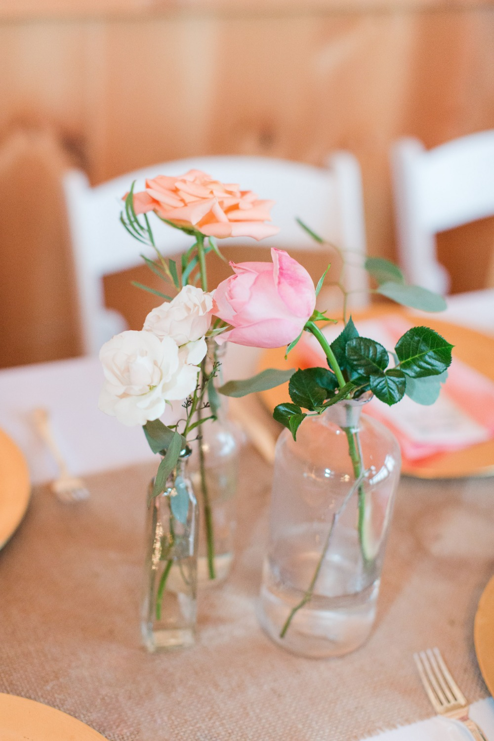 Simple vintage centerpieces