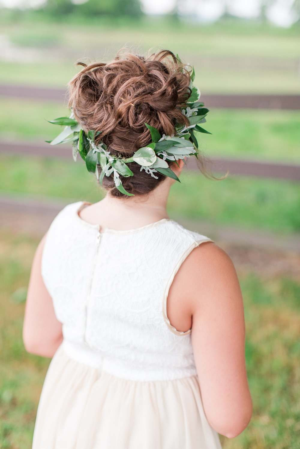 Flower girl crown and hair