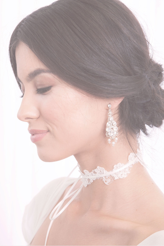 Laura Jayne Bridal earrrings