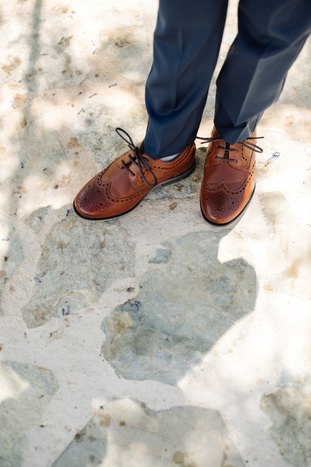 fancy brown wedding shoes for the ring bearer