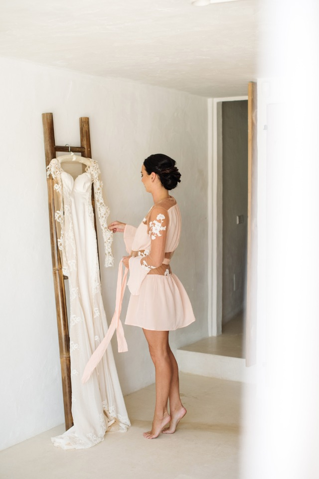 Gala Lahav wedding dress and the beautiful bride about to wear it