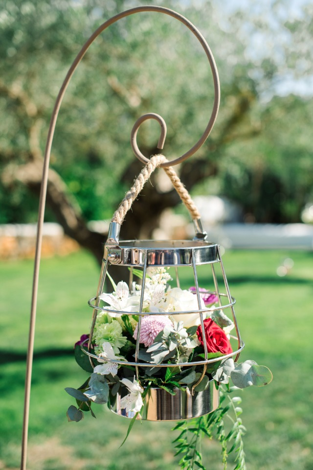modern bird cage flower aisle decor