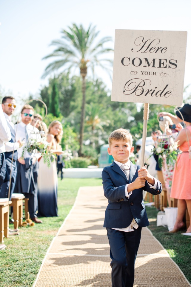 here comes your bride ring bearer sign