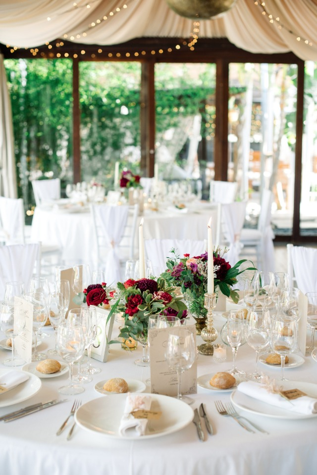 white and gold wedding reception decor